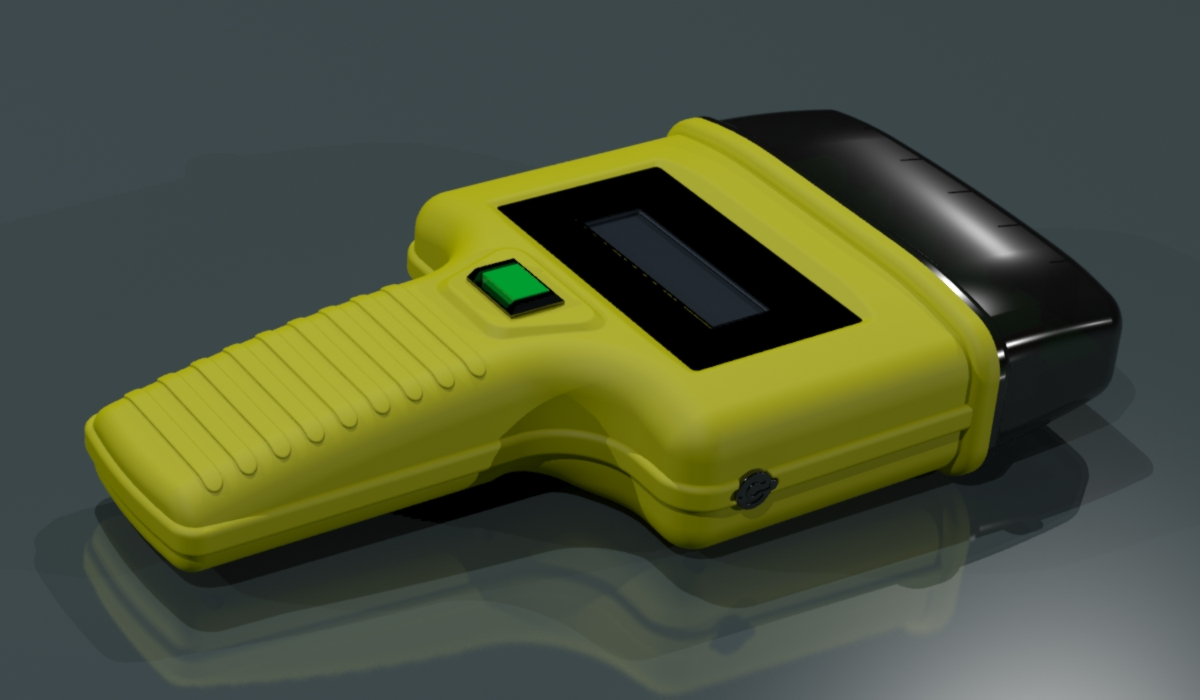 CAD Rendering of ID reader for railroad industry.