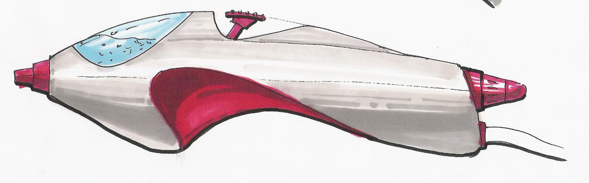 Hand sketched design concept.