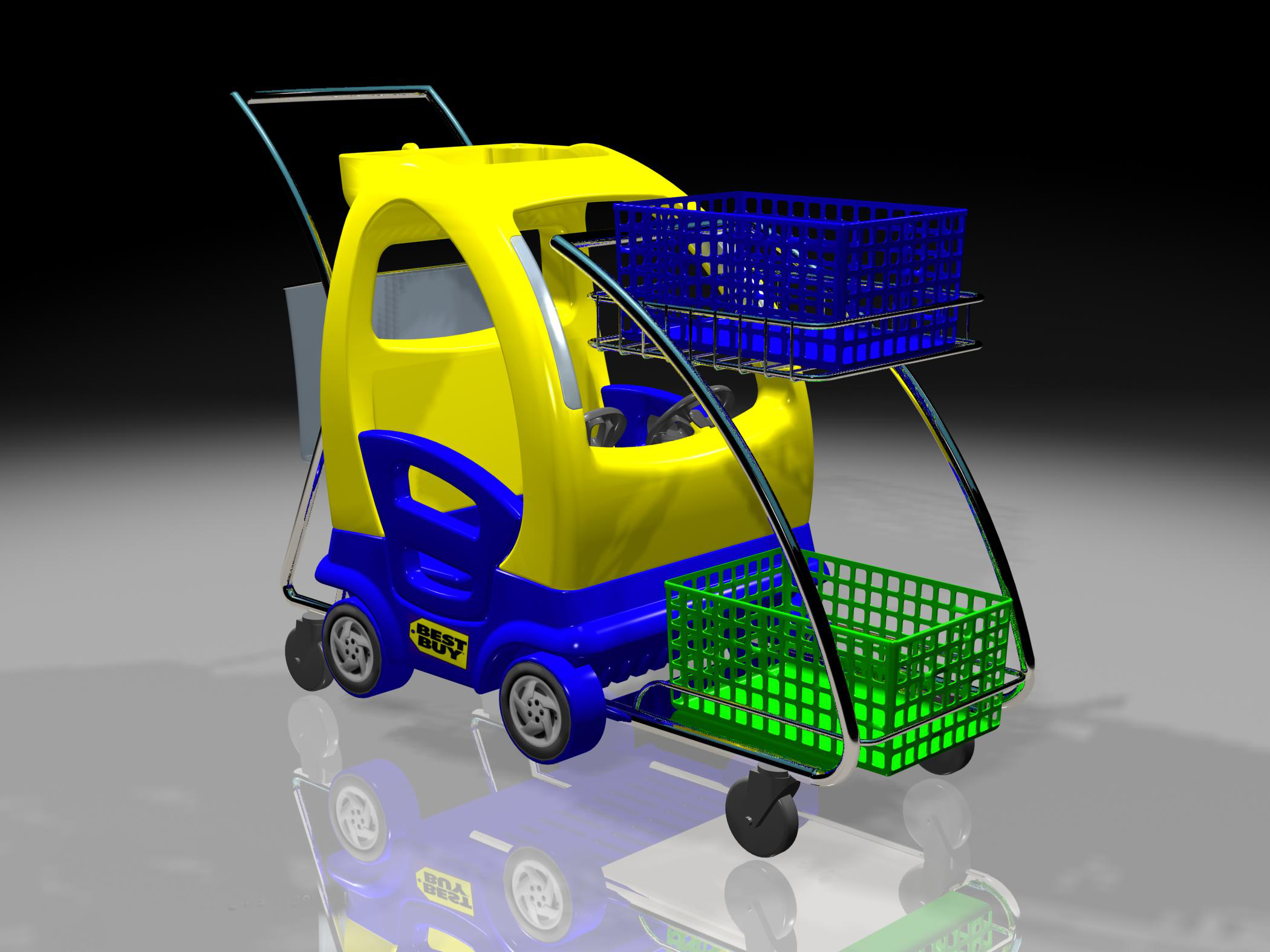 New shopping cart design