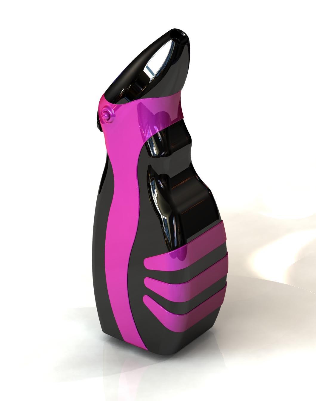 Design concept of Temptu handheld cosmetic airbrush.