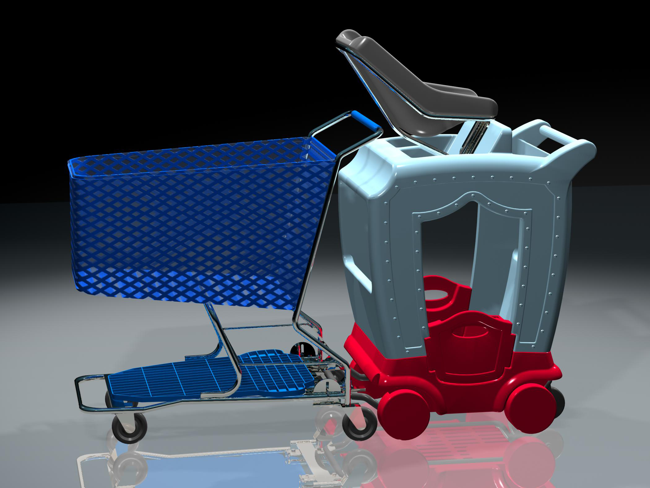 New retail shopping cart design
