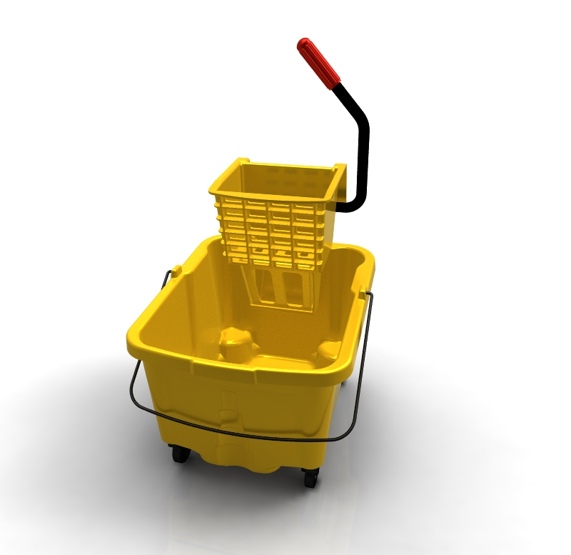 3-D CAD designed mopping bucket